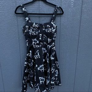 Ixia Pin Up Fit N Flare Tie Back Horse Dress M